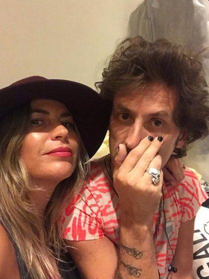 Coti Sorokin junto a su ex esposa Valeria Larrarte.