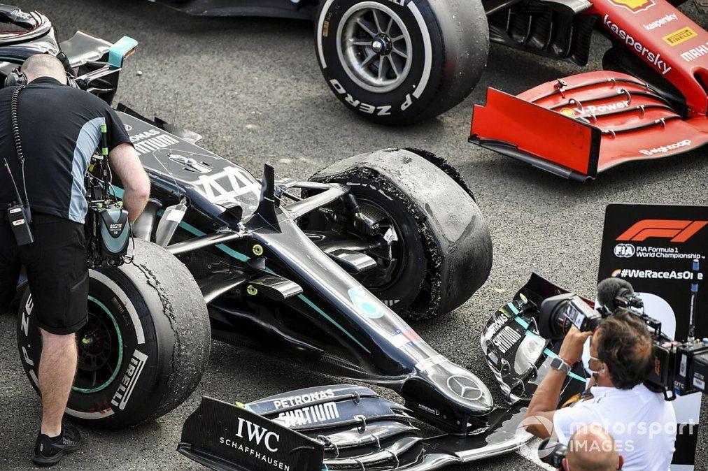 Pirelli comunicó las razones por la que cuatro de sus neumáticos reventaron durante el GP de Silverstone.