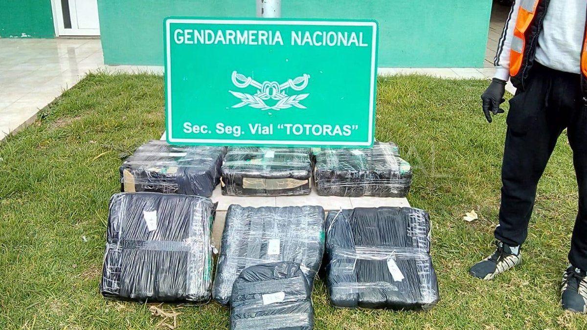El procedimiento se dio en horas de la tarde por personal de la Sección Vial de Totoras.