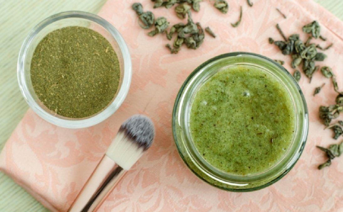 3 mascarillas de té verde para eliminar la grasa de la piel del rostro