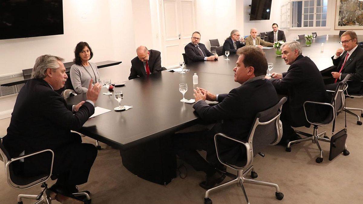 El presidente se reunió en Olivos conel gobernador de Santa Fe