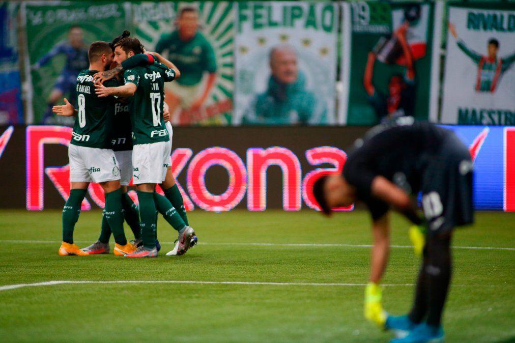 Tigre no pudo realizar la epopeya en Brasil y termina su sueño internacional tras ser goleado por el Palmeiras.