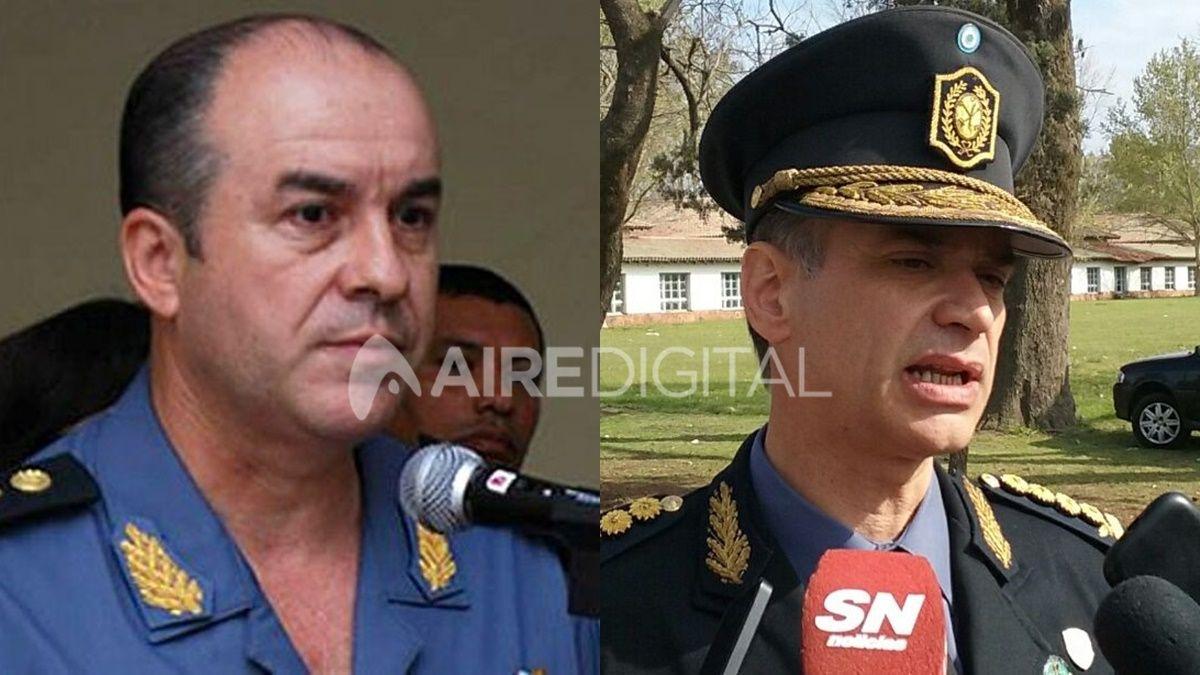 Rafael Grau (izq.) y Omar Odriozola (der.) en la época en que ejercían como jefes de la Policía provincial.