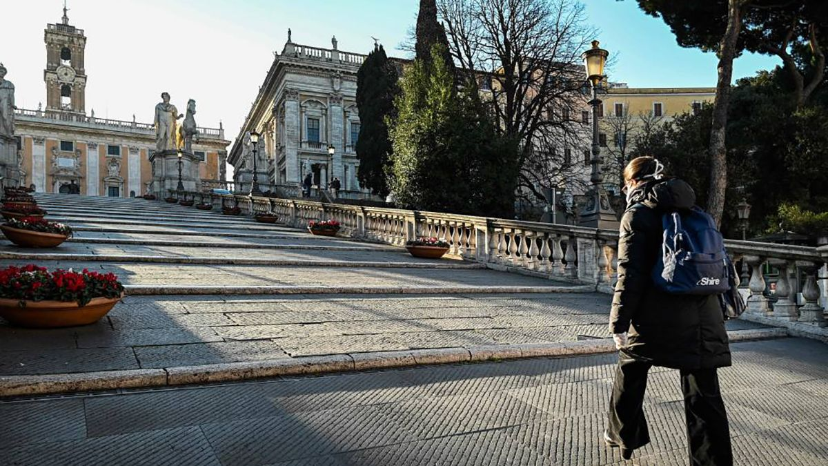 Las calles de Italia están vacías por el aislamiento obligatorio.