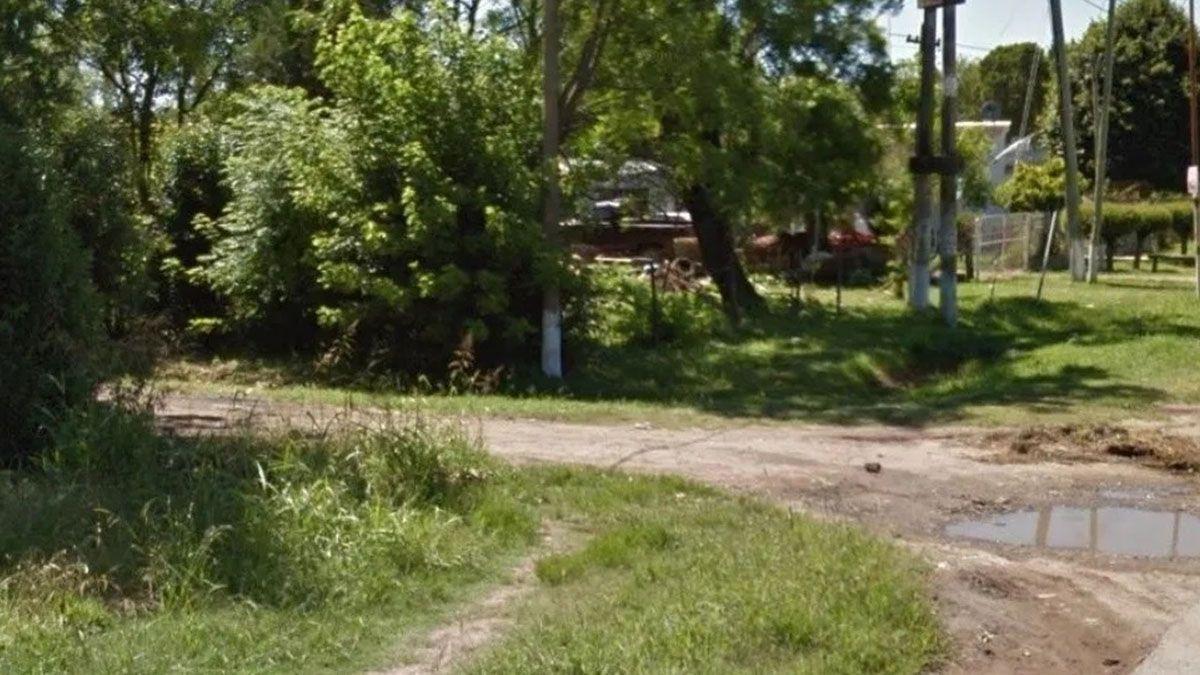 El lugar donde fue encontrado el cadáver de Gustavo Gabriel Zárate de 24 años