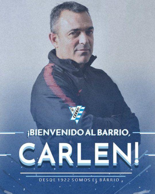 Rolando Carlen es el nuevo entrenador de Cerro de Uruguay