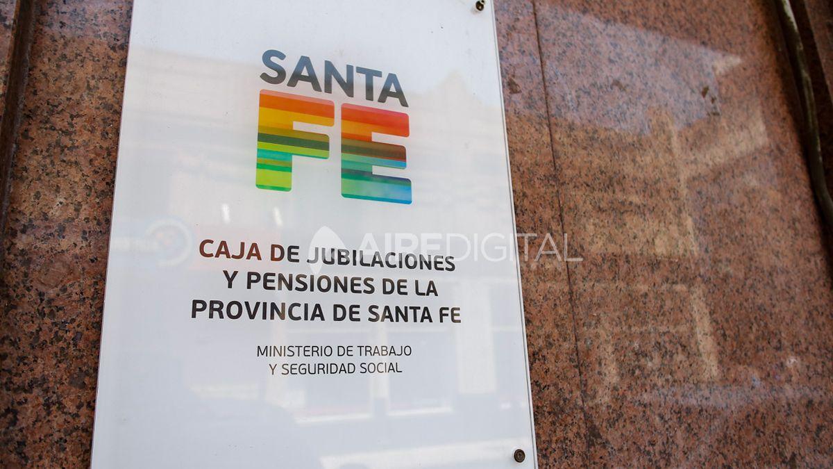 La sede de la Caja de Jubilaciones y Pensiones en la ciudad de Santa Fe.