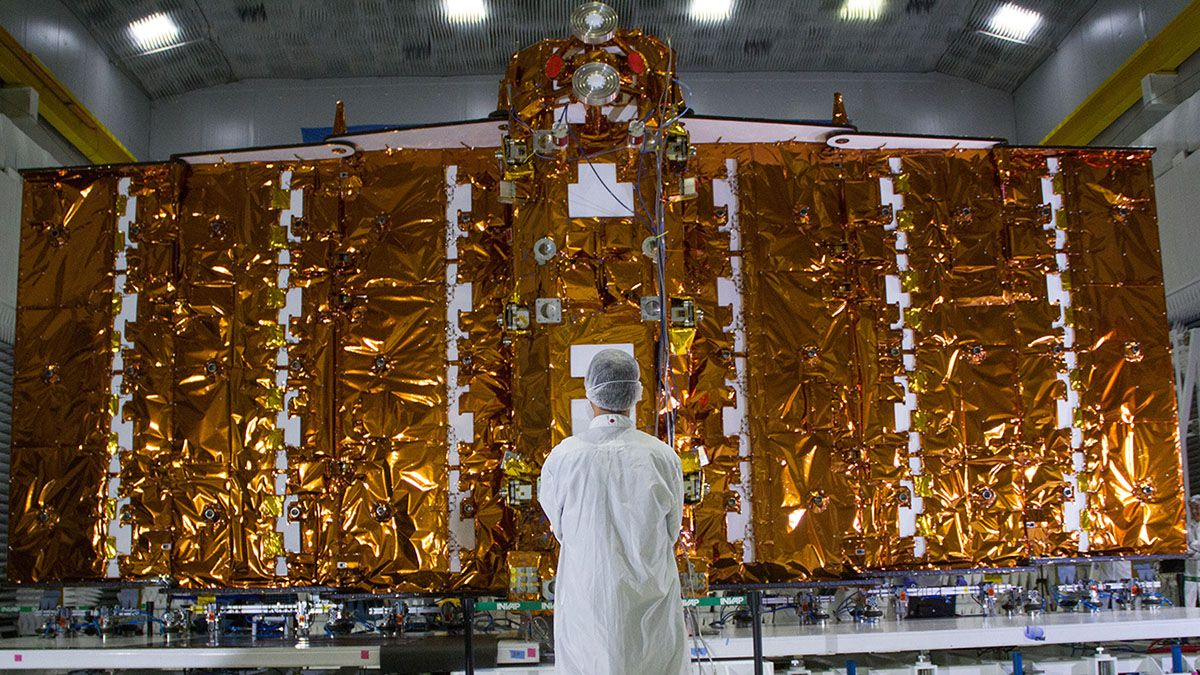 El satélite argentino Saocom 1B.