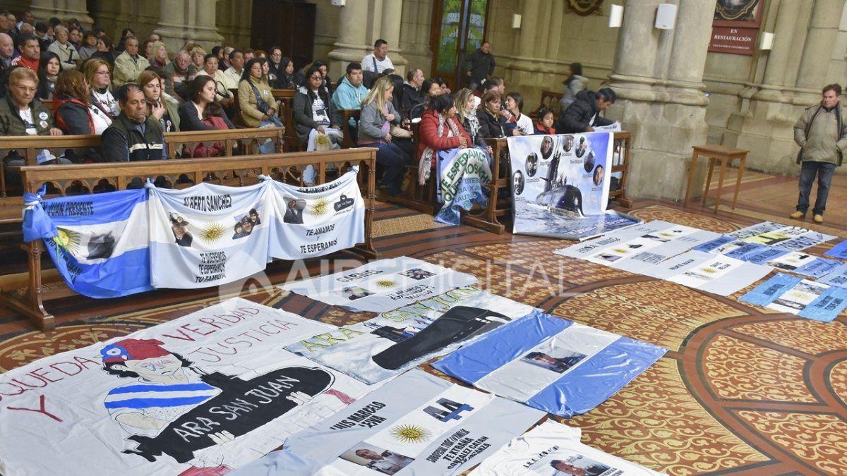 Archivo. Familiares de los tripulantes del ARA San Juan realizaron una marcha y una misa en Mar del Plata en mayo de 2018