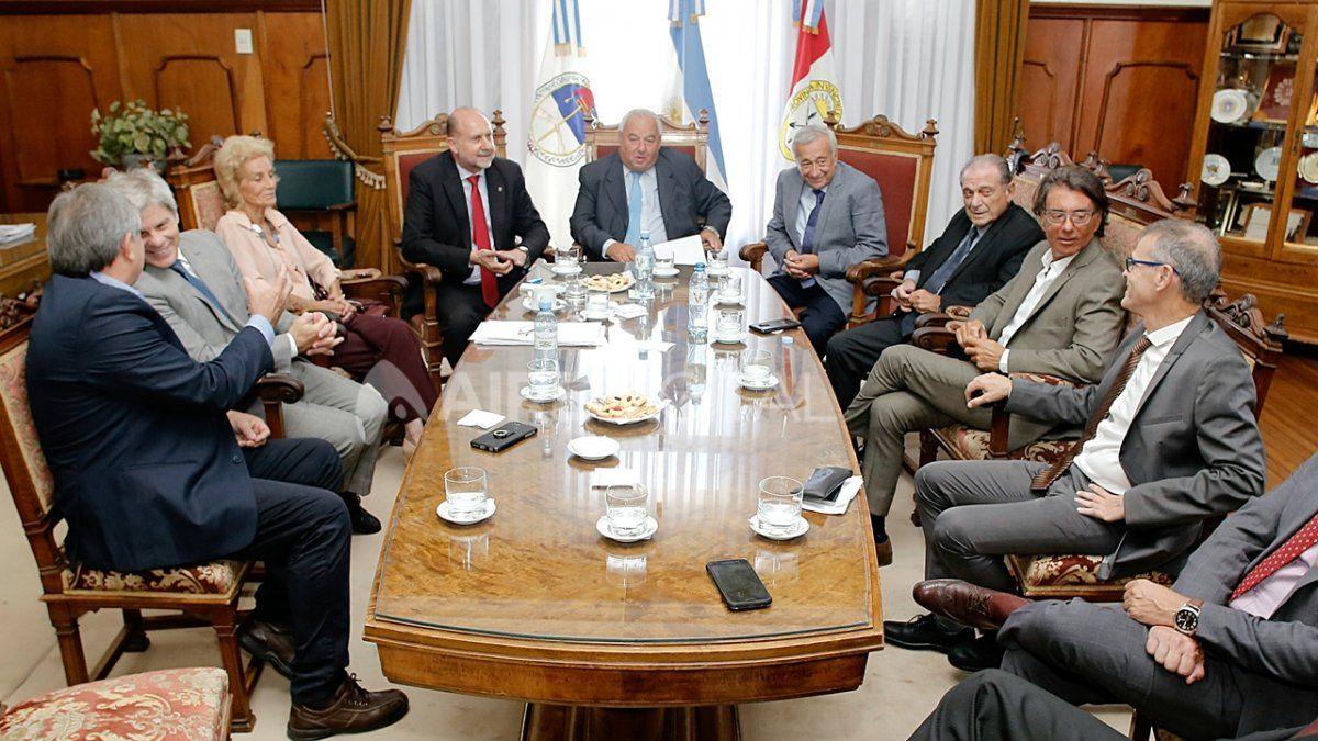 La Corte Suprema de Justicia recibe al gobernador Perotti y parte de su gabinete