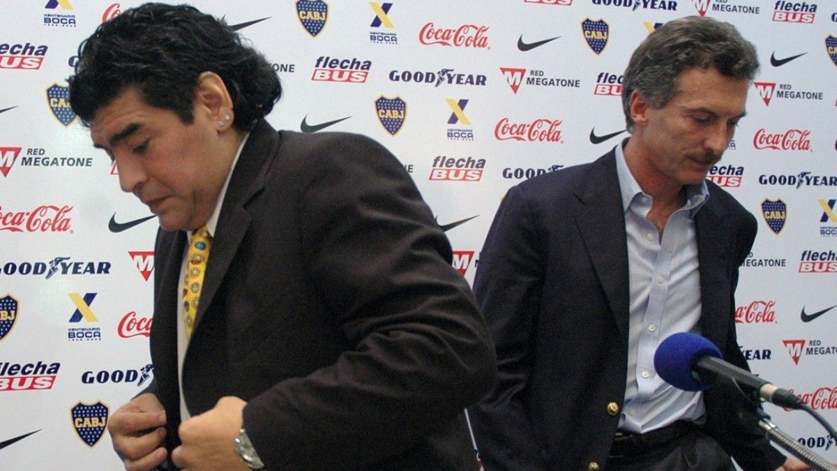Diego Maradona contraatacó contra Mauricio Macri luego de que este lo comparara con Cristina Fernández.