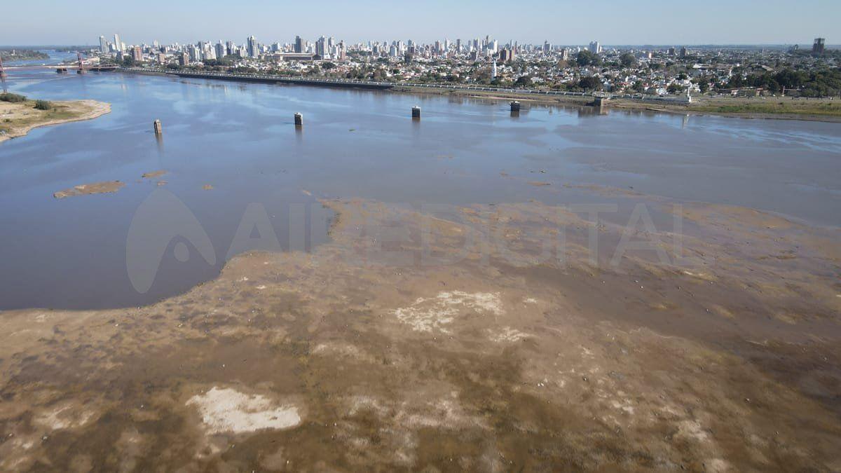 La postal de la laguna Setúbal con el río oscilando cerca de los 0