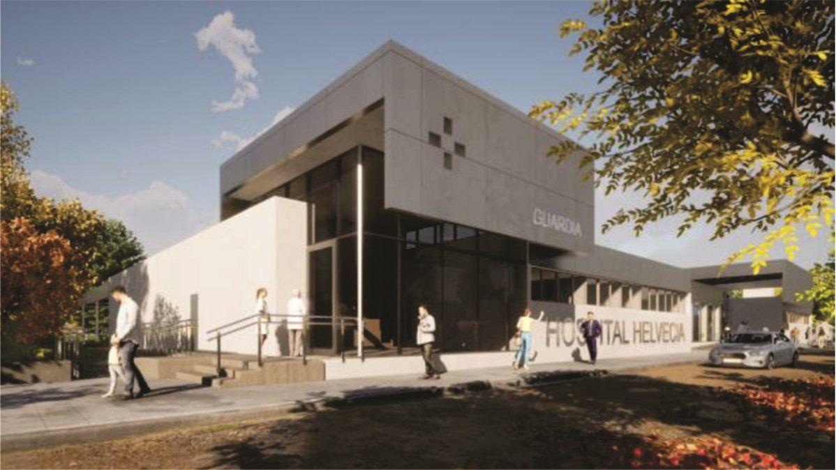 El proyecto de renovación del hospital de Helvecia.