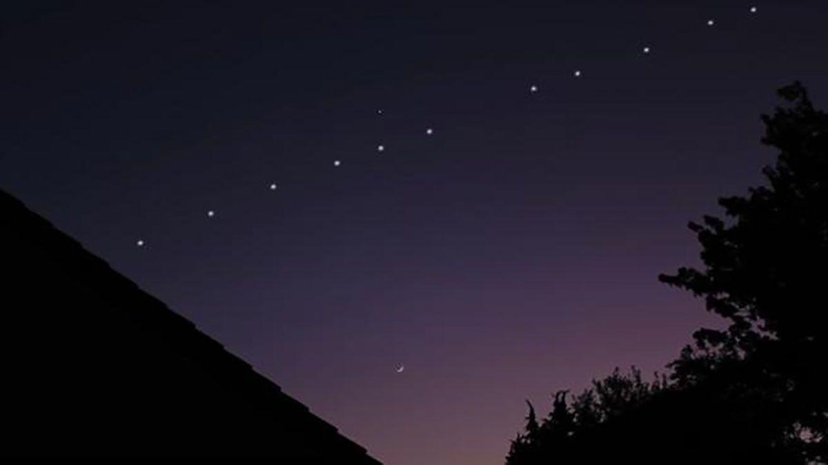 Los satélites Starlink pasarán por el cielo santafesino otra vez.