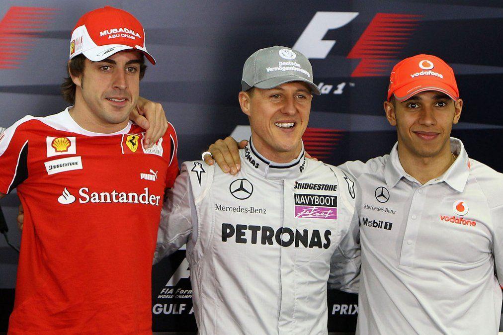 Fernando Alonso se mete en la discusión sobre qué piloto es mejor y dice que Michael Schumacher es difícil de superar