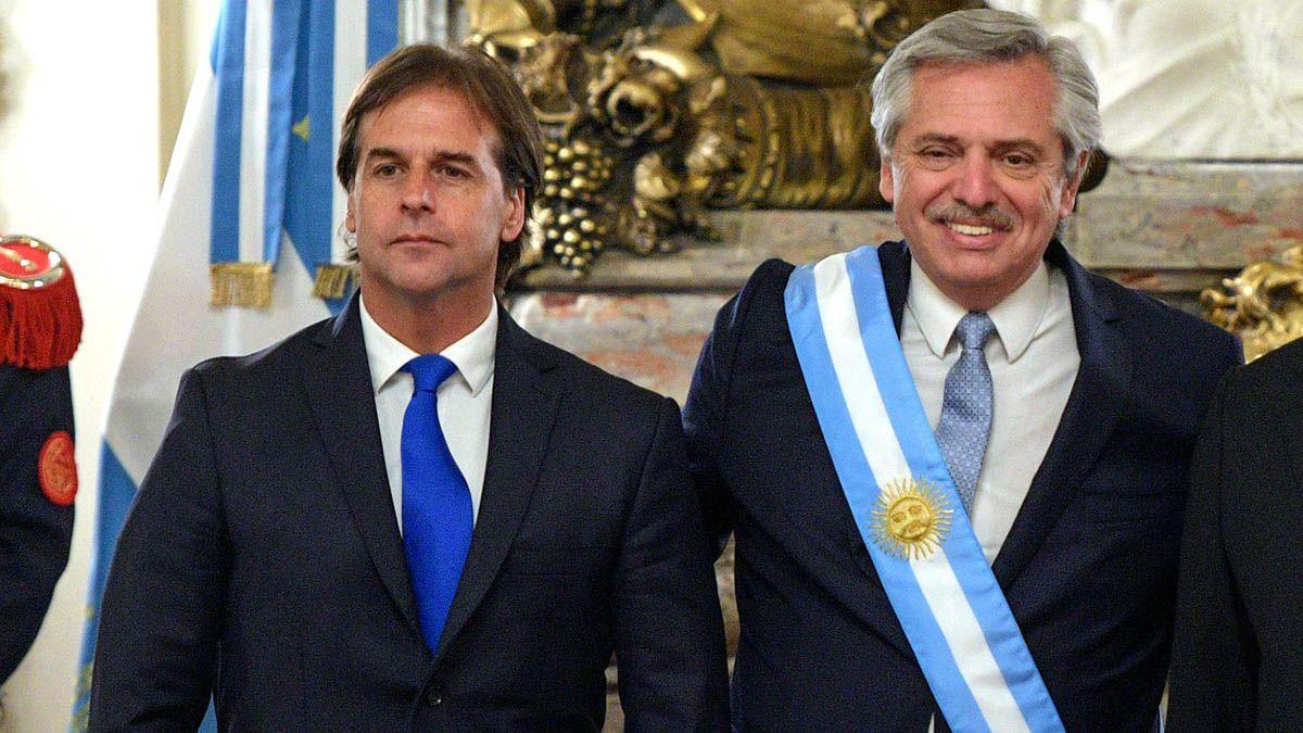 Alberto Fernández se reunió en Uurguay con Lacalle Pou.