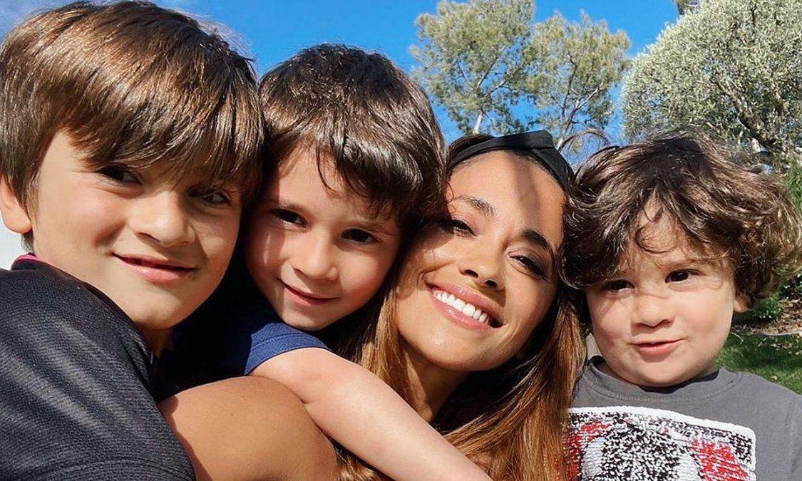 Antonela Roccuzzo mostró cómo encuentra a sus hijos cada mañana