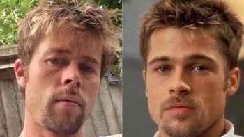 La historia del albañil que no puede caminar por la calle por su parecido con Brad Pitt
