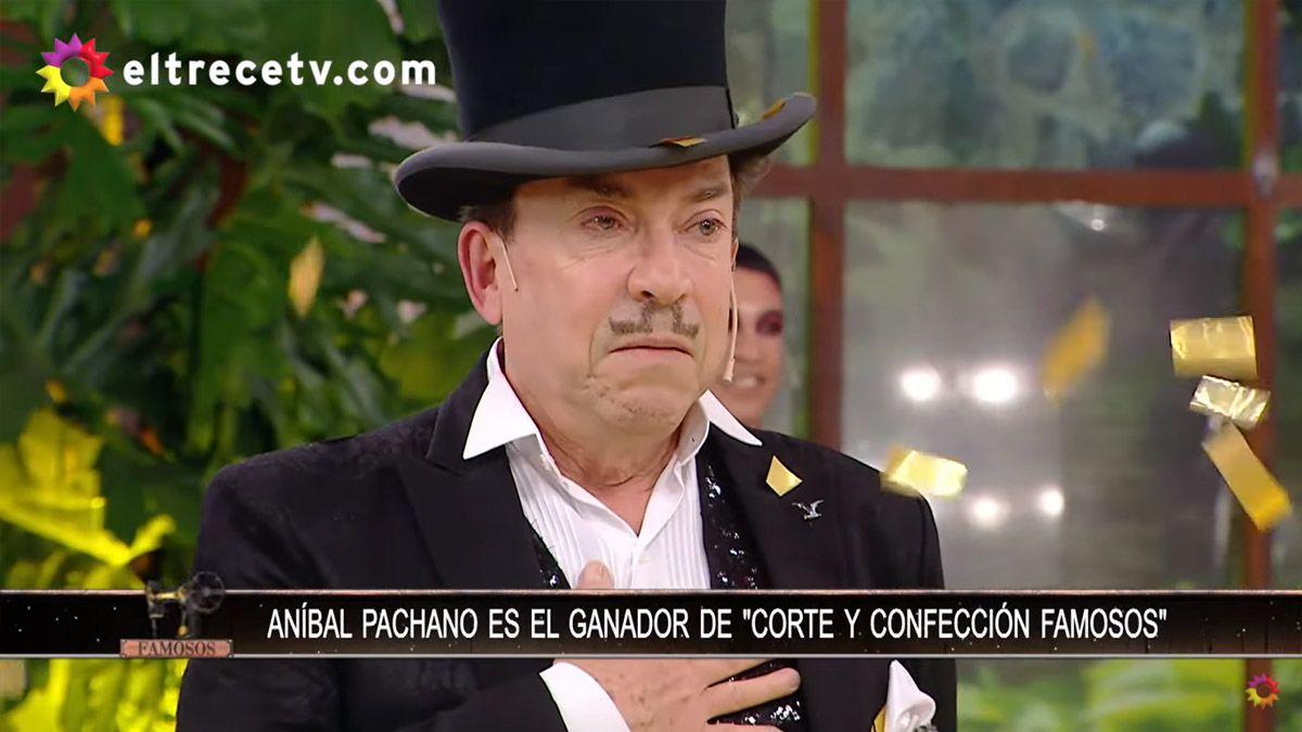 Aníbal Pachano se consagró como el ganador de Corte y Confección Famosos