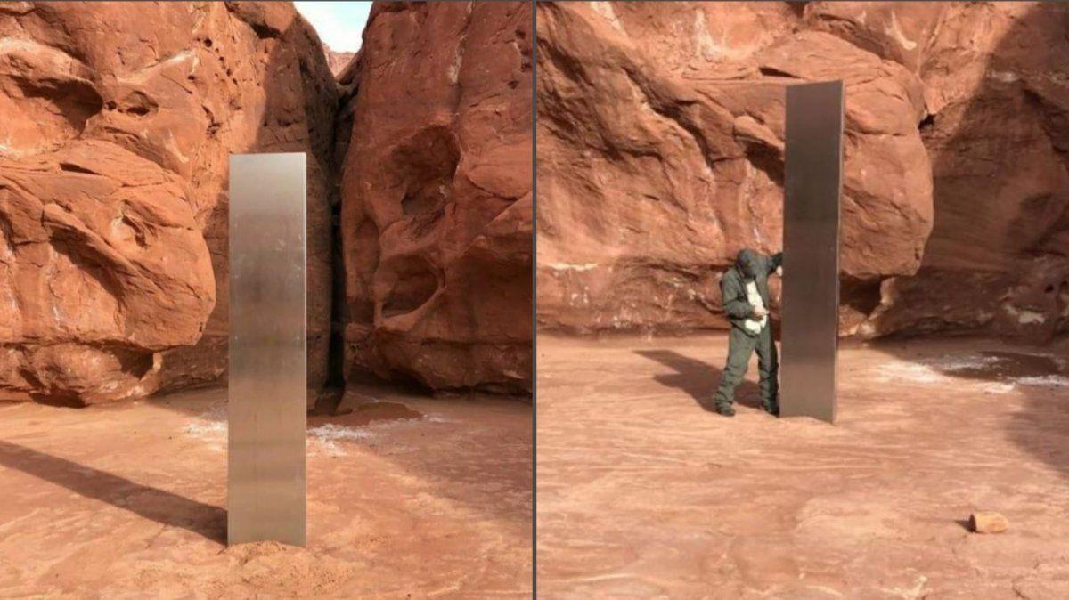 Hallan un extraño monolito en el medio del desierto de Utah