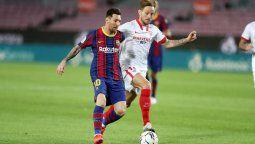 Con Lionel Messi como titular, Barcelona enfrenta este miércoles al Sevilla en el partido de vuelta de las semifinales de la Copa del Rey. El encuentro se jugará desde las 17 de Argentina.