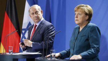 Merkel le expresó a Netanyahu la solidaridad con Israel ante los ataques de Hamas