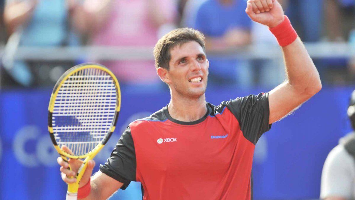 Federico Delbonis derrotó a Seppi y pasó a octavos de final del ATP de Cerdeña.