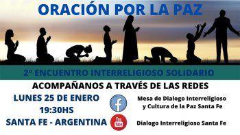 Santa Fe celebrará su segundo encuentro solidario de Oración por la Paz