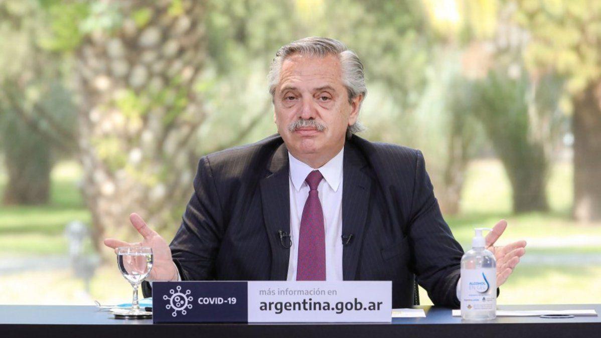 El presidenteAlberto Fernándezen la Quinta de Olivos.