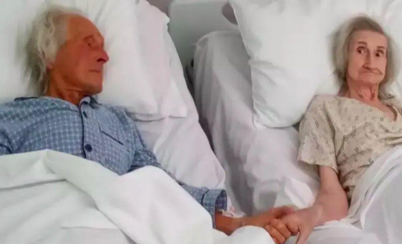 La pareja de Reino Unido decidió pasar sus últimos días en la misma habitación del hospital donde se encuentran internados.