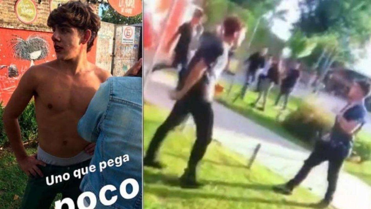 Video: los rugbiers Alejo Milanesi y Lucas Pertossi golpearon a otro chico un año antes y lo mandaron al hospital