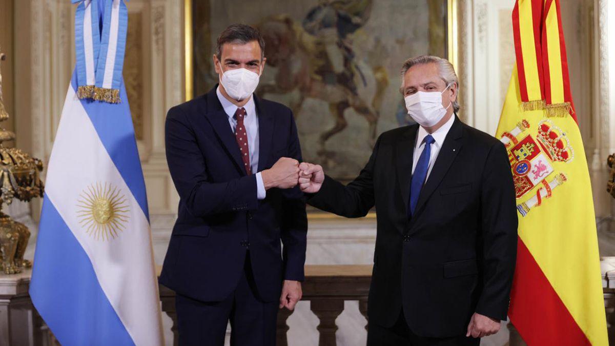 Durante la breve visita que realizó a la Argentina el presidente del Gobierno de España