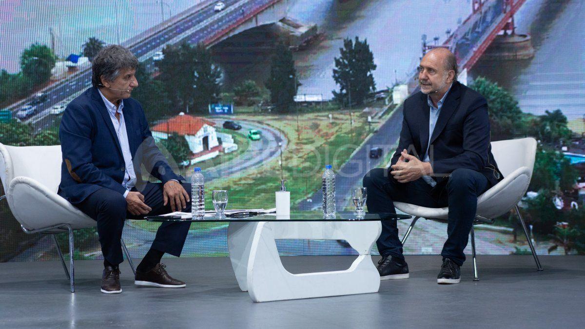 El gobernador Omar Perotti en la entrevista con Luis Mino en Aire de Santa Fe.