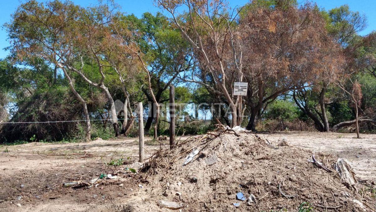 Los terrenos están en el sector del Club de Caza y Pesca y se inundan cuando crece el río Colastiné.