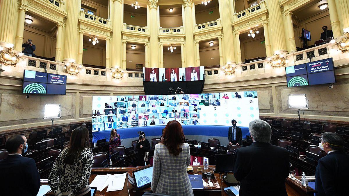 Moratoria 2020: El Senado debatió el proyecto en un recintovirtual.