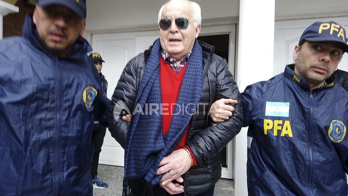 Herme Juárez al momento de ser detenido el 1 de agosto de 2019. Este lunes