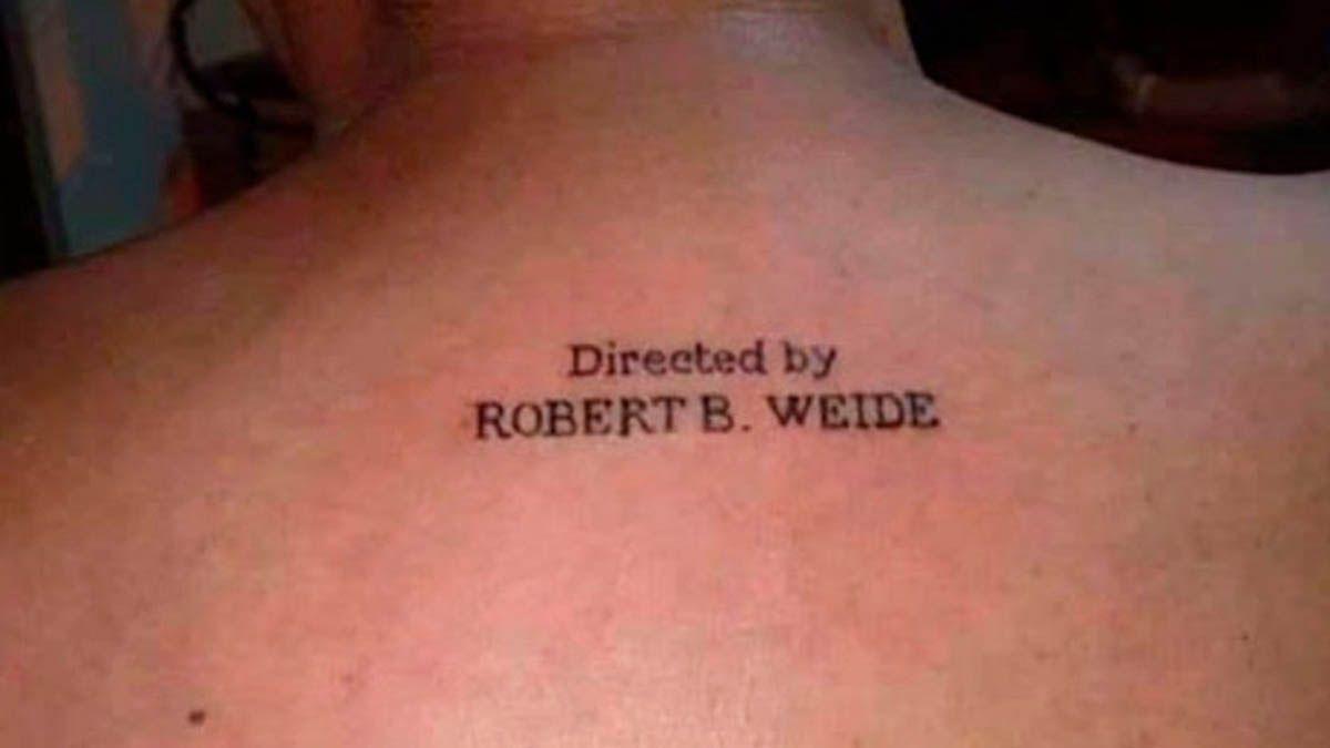 Insólito tatuaje en honor al director Robert Weide