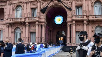 Campeones del 86 despidieron a Maradona en Casa Rosada