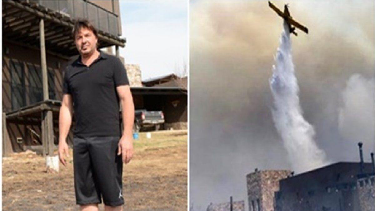 Incendios en Córdoba: así salvó Damián De Santo su casa en las sierras