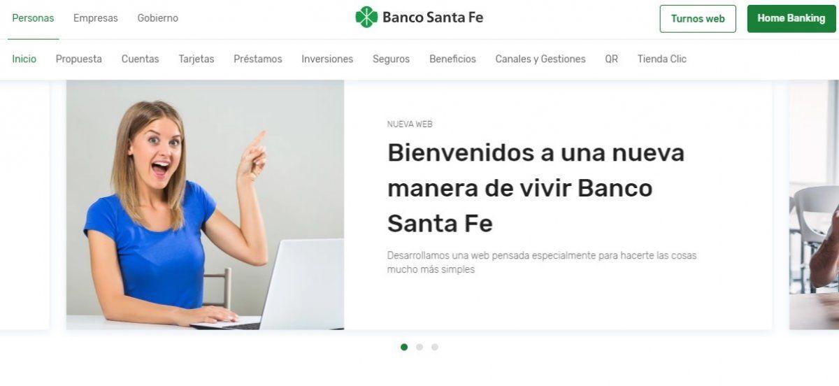 Banco de Santa Fe presentó su nuevo sitio web multidispositivo