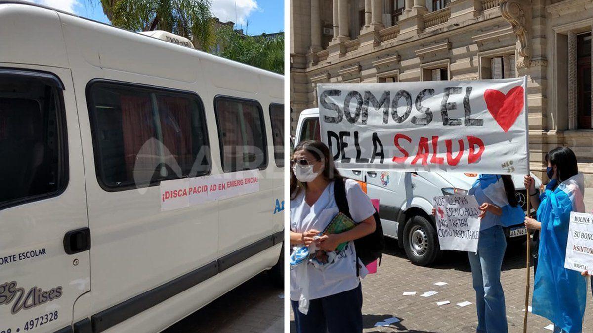 Otra mañana de movilizaciones en la Plaza 25 de Mayo.