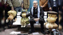 El 29/09/2014 Quino estuvo presente en la inauguración de las ya míticas estatuas de San Telmo, al cumplirse 50 años de la primera publicación de una tira de Mafalda.