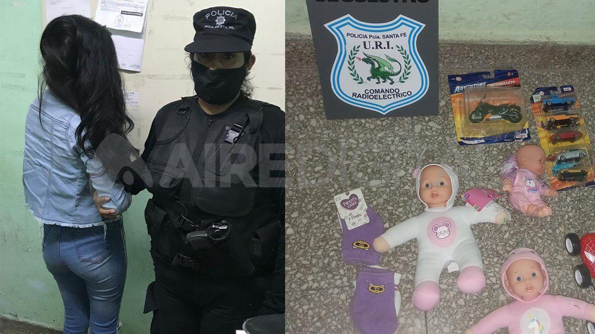 Robaron juguetes en el hipermercado frente a B° El Pozo y terminaron presos