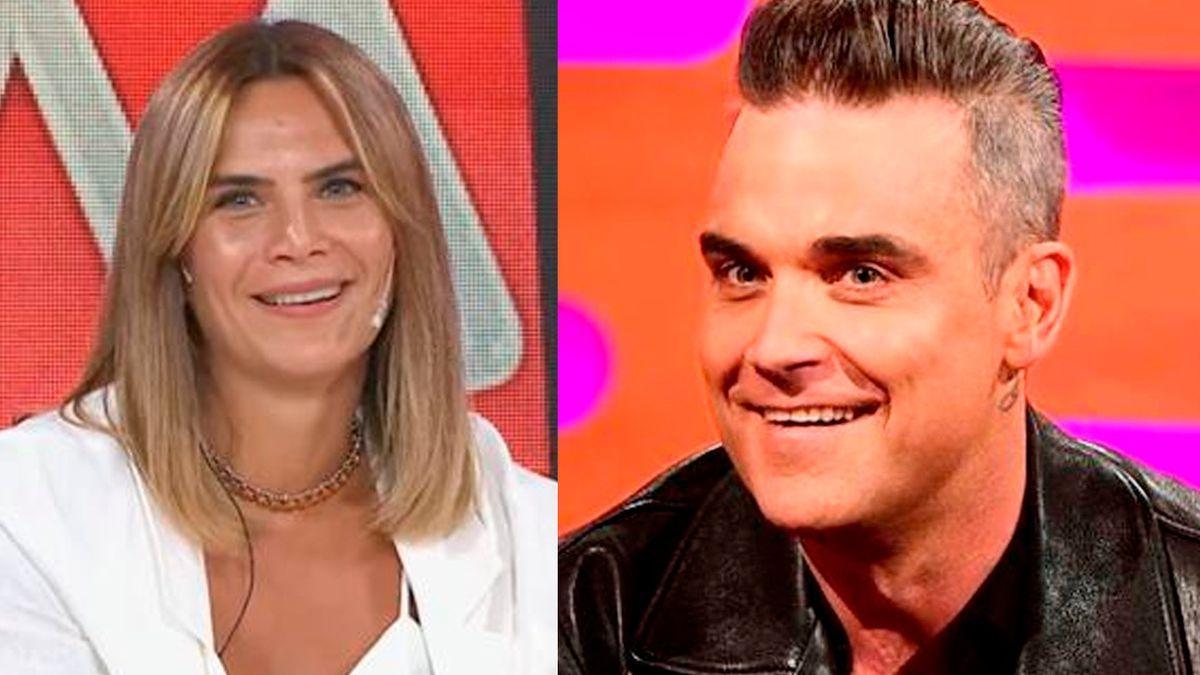 Amalia Granata contó sobre su noche hot con Robbie Williams.