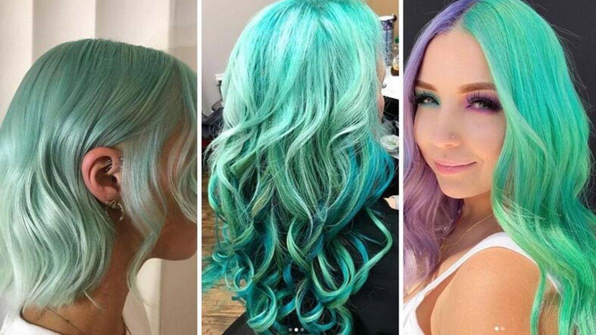 Súper In: el color menta es la nueva tendencia para tu cabello en este 2020