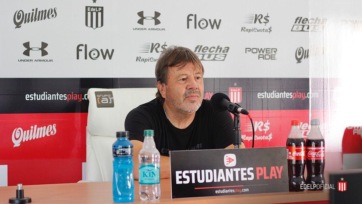 Ricardo Zielinsky habló en la previa al duelo entre Estudiantes de La Plata y Colón