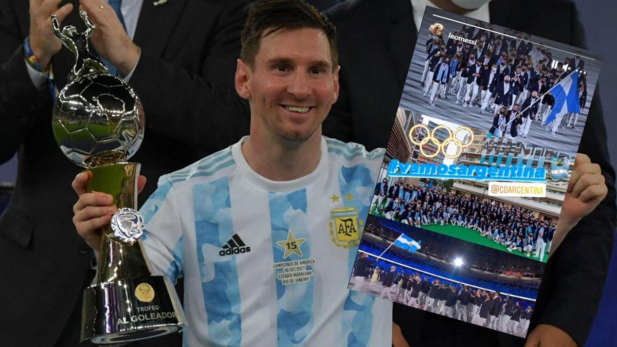Lionel Messi envió un mensaje a los deportistas argentinos que participarán en los Juegos Olímpicos de Tokio.