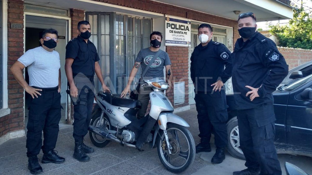 Recuperaron la moto que robaron dos días atrás a un periodista de la ciudad