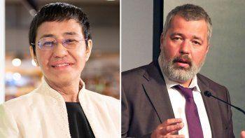 Dos periodistas ganan el Nobel de la Paz por su lucha por la libertad de expresión