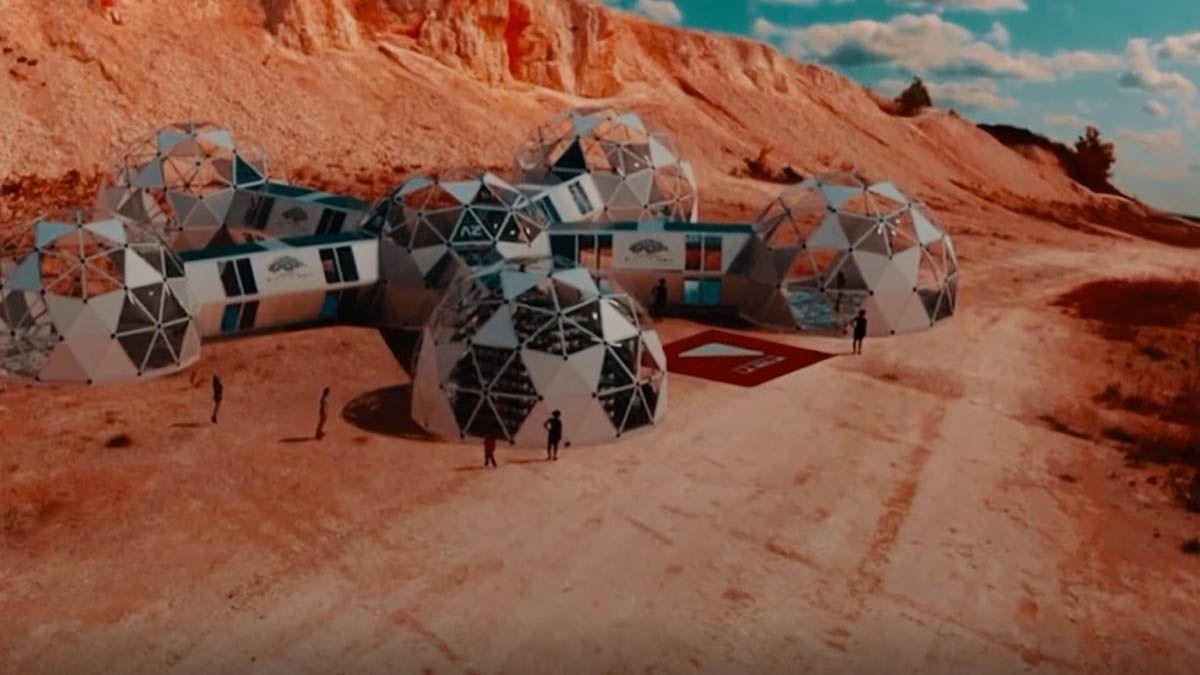 Así se verá el simulador de condiciones de vida en Marte en La Rioja.